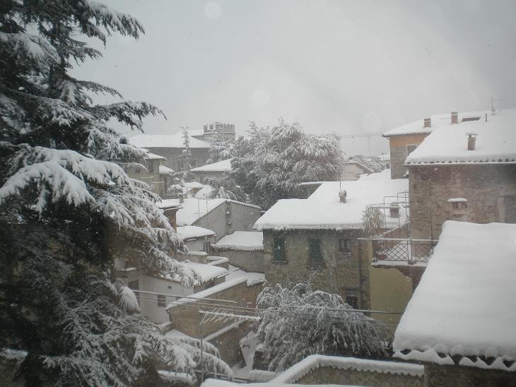 Tetti di Ascoli di nuovo imbiancati, 10 febbraio 2012 (Domenico C.)