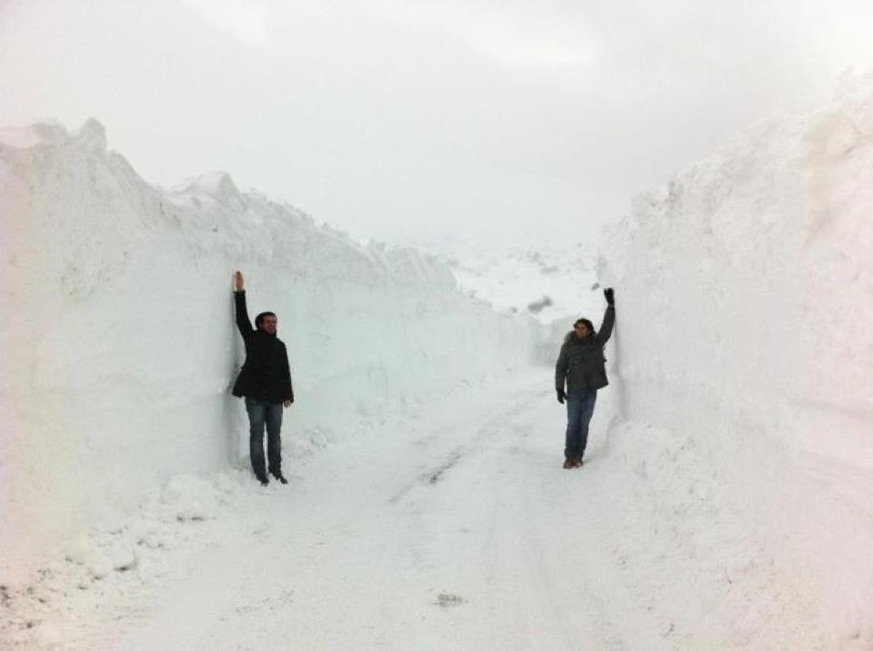 Tre metri di neve ad Atri, in provincia di Teramo, vicino alla costa, fonte Provincia di Teramo
