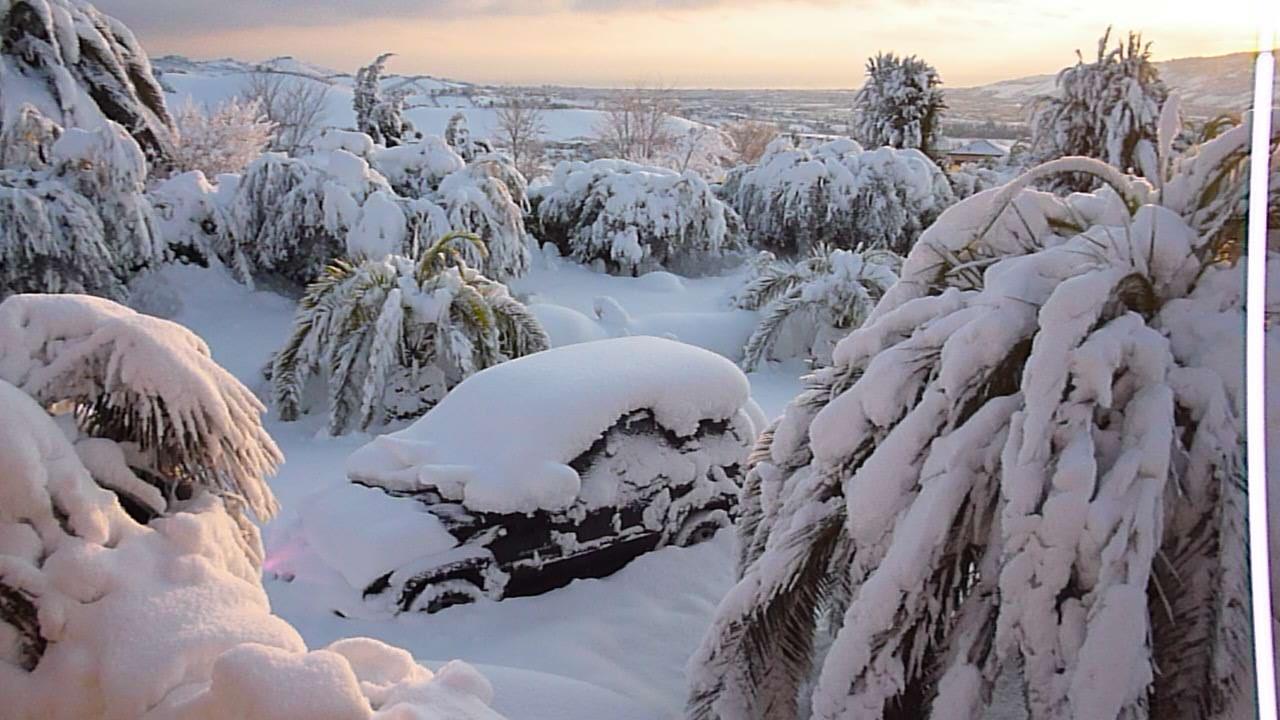 Via Bitossi, Monteprandone, 11 febbraio, coperta dalla neve