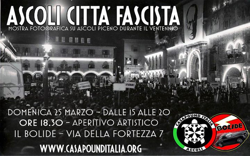 Ascoli Città Fascista, la locandina
