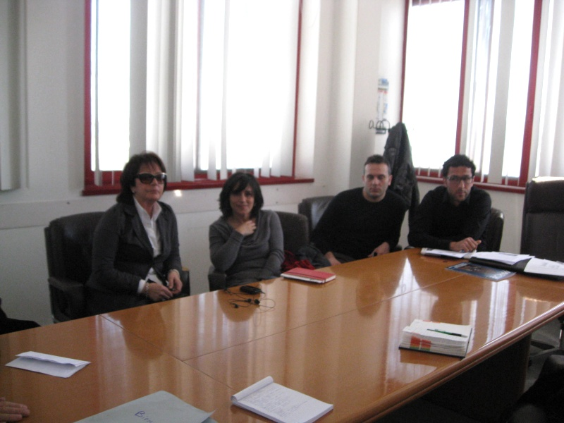 Da sinistra Patrizia Rossini, Nazzarena Agostini, Piero Mozzoni e Alessandro Corradetti