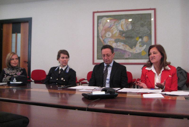 Da sinistra Teresa Valiani, Anna Lavinia Palmisano, Pasqualino Piunti e Lucia Di Feliciantonio