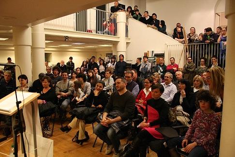 Il pubblico in sala alla presentazione di