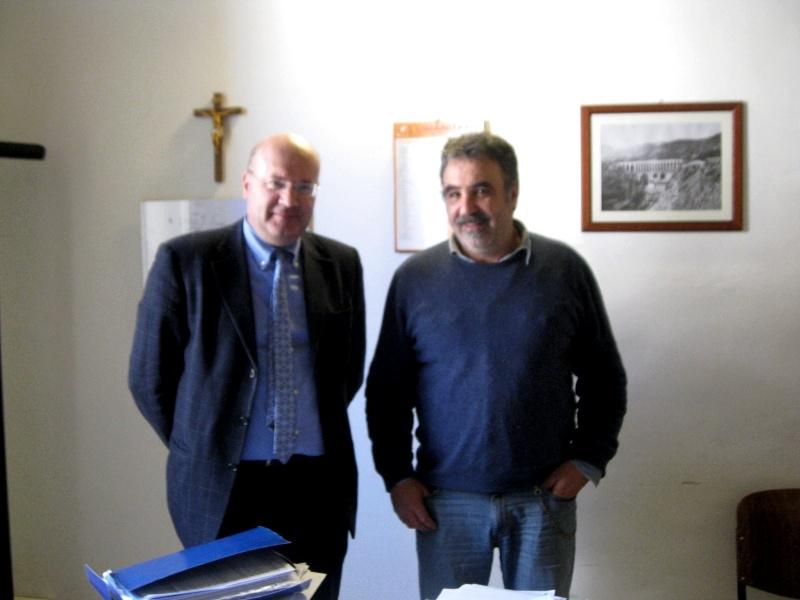 Da sinistra l'assessore ai Lavori pubblici Giovanni Silvestri e l'architetto Pier Filippo Melchiorre