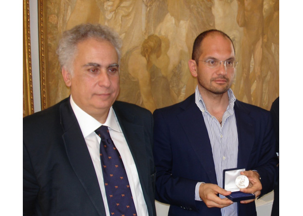 Da sinistra Davide Aliberti e Guido Castelli