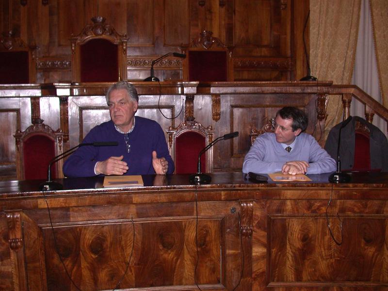 Da sinistra Piero Celani e Domenico Vagnoni