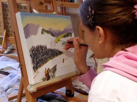 Una giovane artista (immagine dal web)