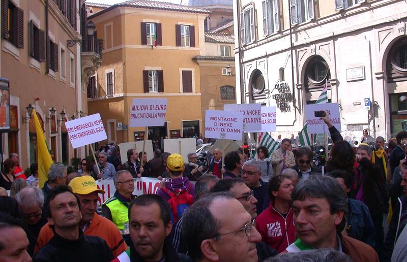Manifestanti al Marche Day