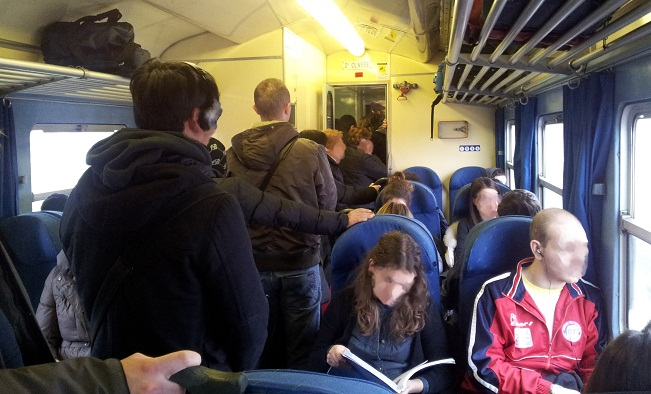 treno pieno