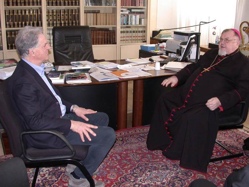 Piero Celani col vescovo Dydycz