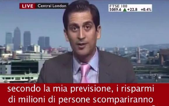 Alessio Rastani durante una intervista alla Bbc