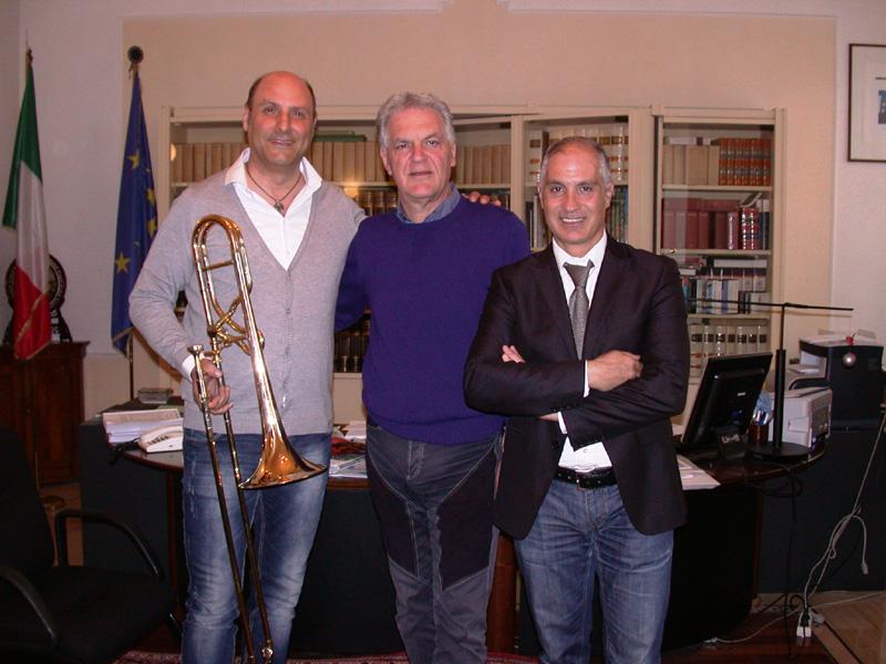 Da sinistra Lito Fontana, Piero Celani e Filippo Olivieri
