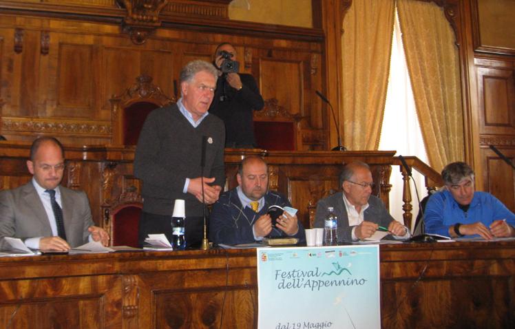 La presentazione del Festival dell'Appennino presso la sala del Consiglio provinciale