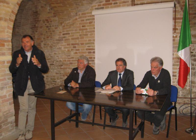 Da sinistra Emidio Mandozzi, Giuliano Girolami, Angelo Canala e Piero Celani