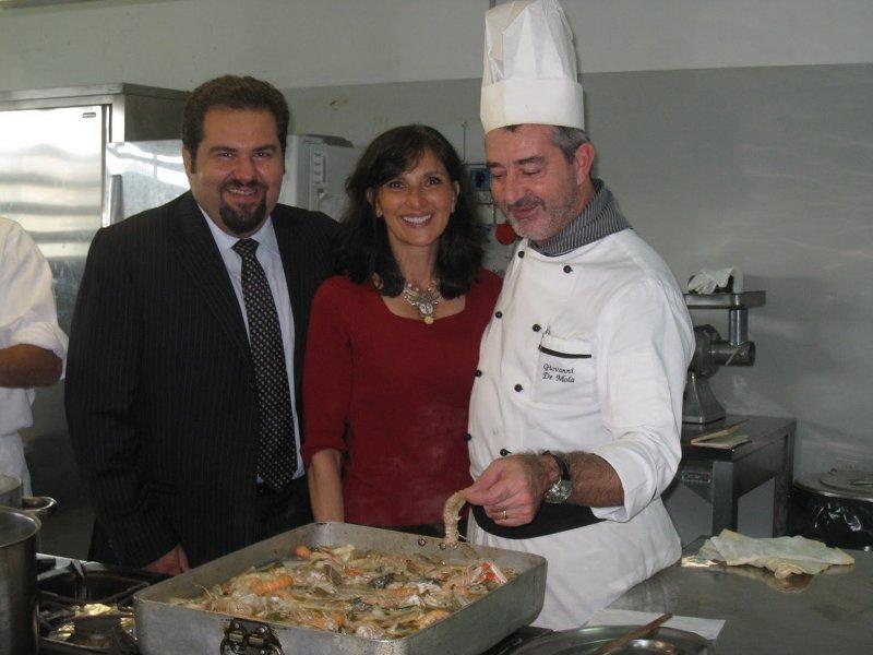 Raffaele Rossi con la giornalista di New York , Francine Segan