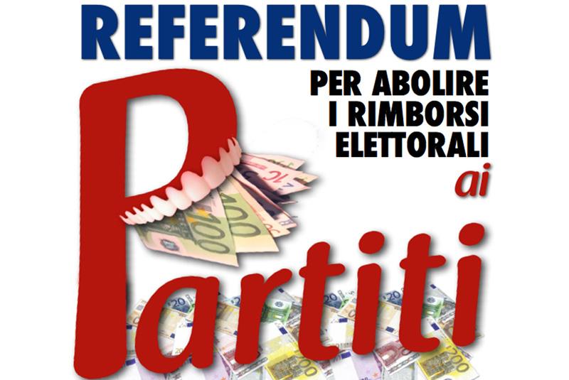 L'Idv propone un nuovo referendum dopo l'abolizione del finanziamento ai Partiti