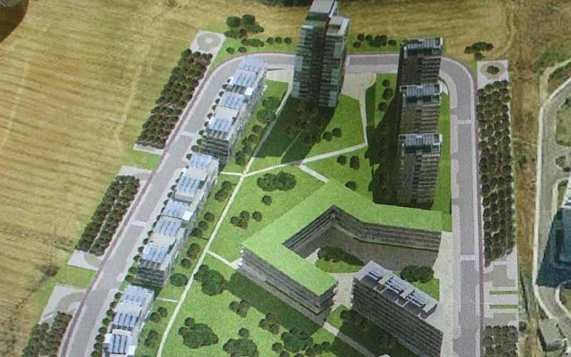 Rendering idea progettuale ospedale di Vallata a Pagliare del Tronto