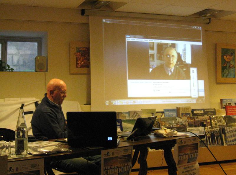 Carlo Cruciani e Rosario Marcianò in videoconferenza