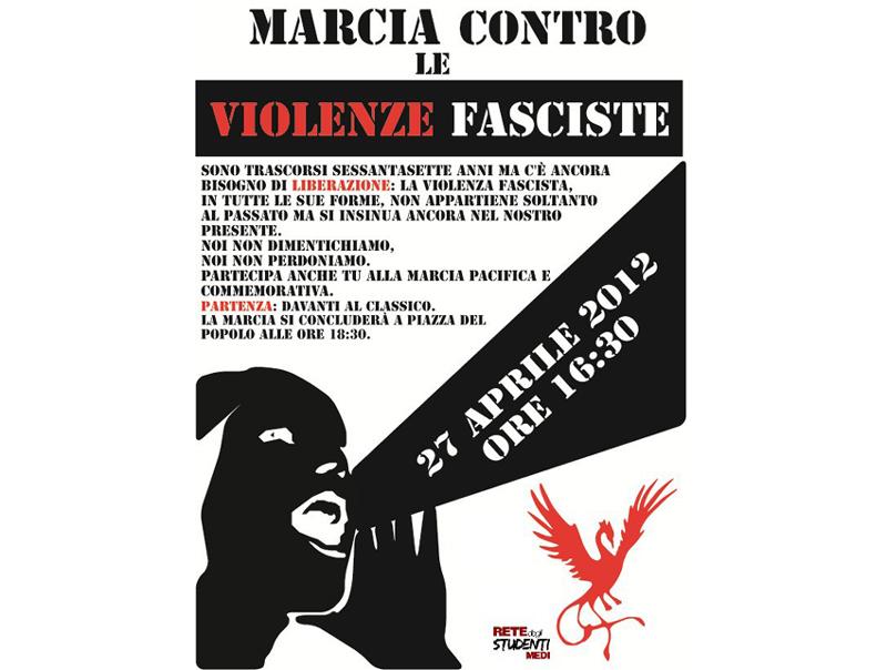 Marcia contro le violenze fasciste