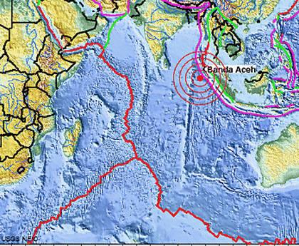 Terremoto in Indonesia (mappa dal sito http://earthquake.usgs.gov)