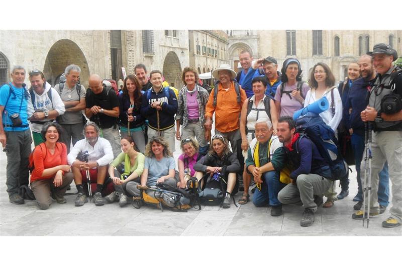 L'arrivo ad Ascoli dei pellegrini del Cammino francescano della Marca
