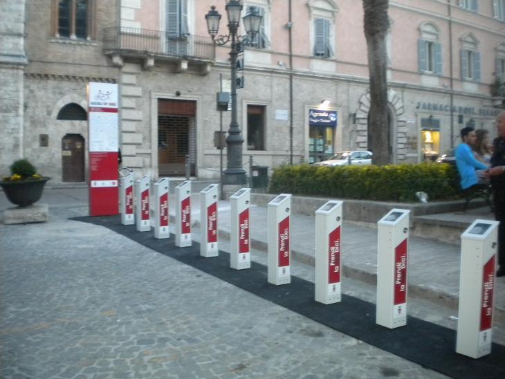 La stazione di Bike Sharing a piazza roma