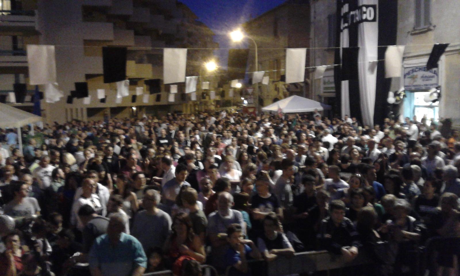 Piazza delle Caldaie vista dal palco
