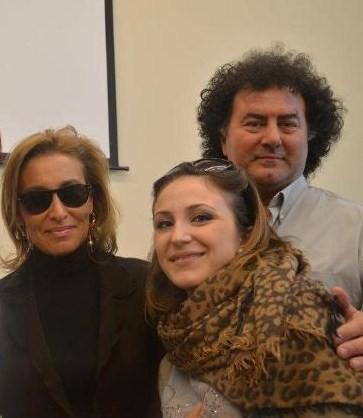 Giandomenico Nardini con l'insegnante e artista Grazia di Michele