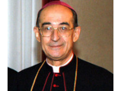 Il vescovo di Ascoli Silvano Montevecchi