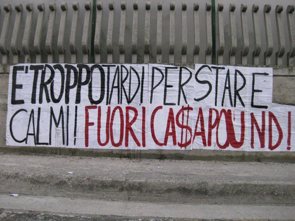 Striscione ingresso Monticelli