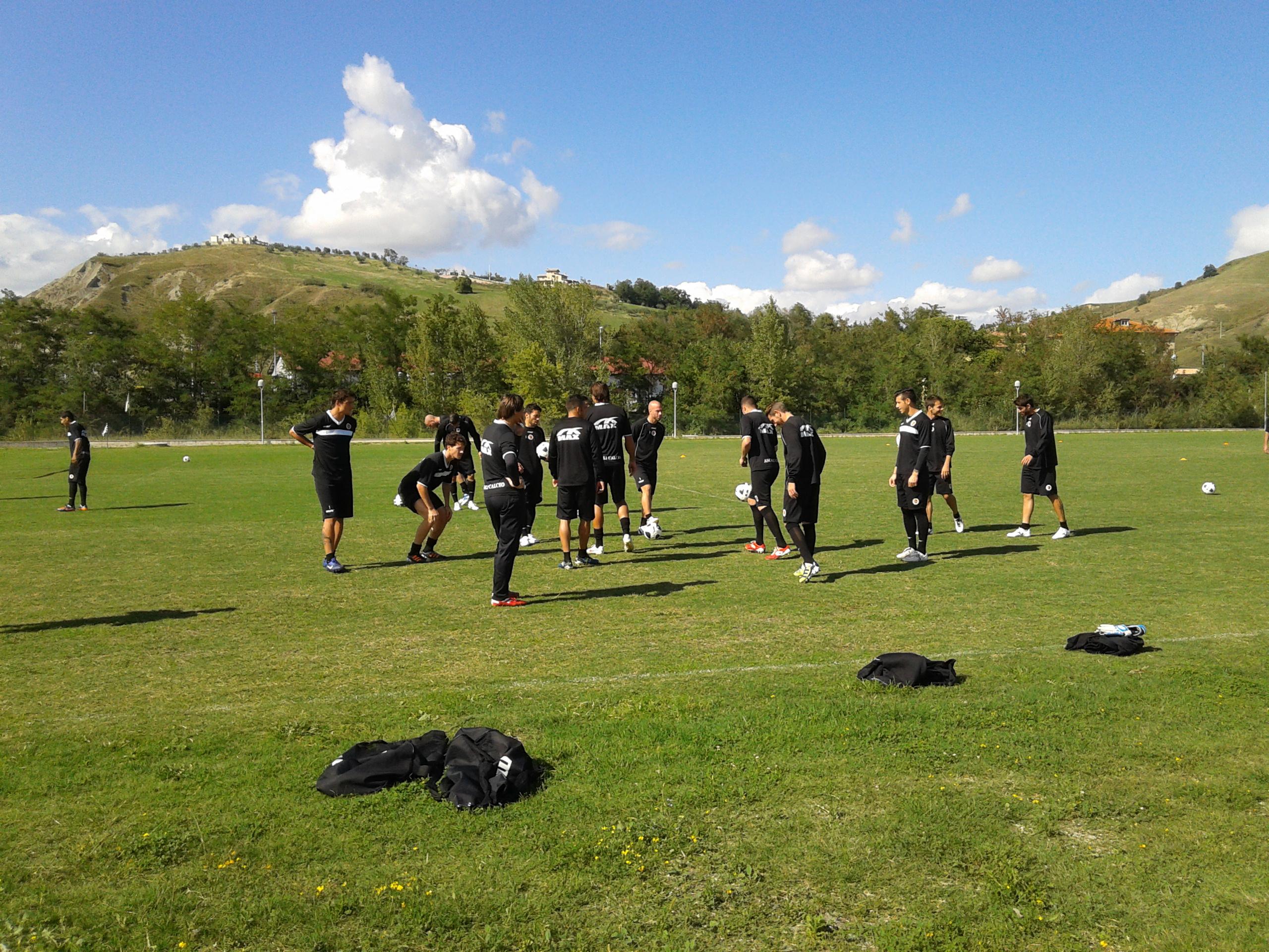I bianconeri pronti a cominciare l'allenamento