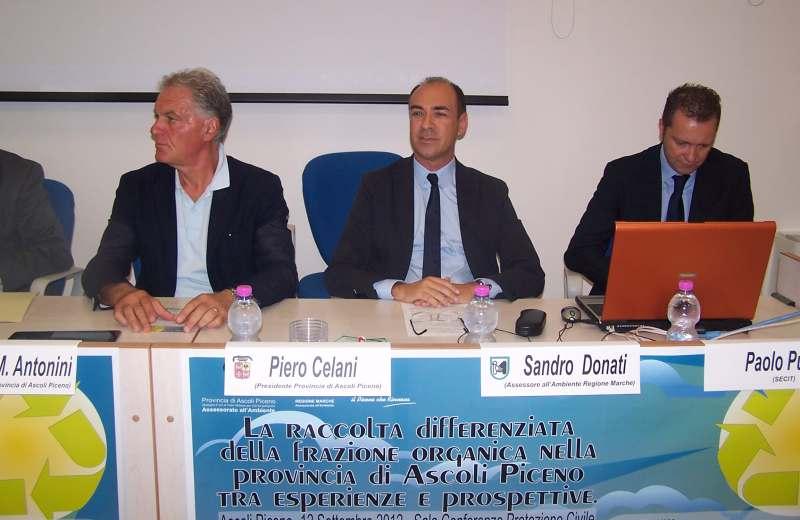 Incontro sulla discarica di Relluce. Da sinistra Piero Celano, Sandro Donati