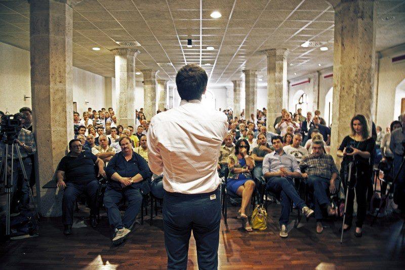 2012, Matteo Renzi ad Ascoli, sala Docens