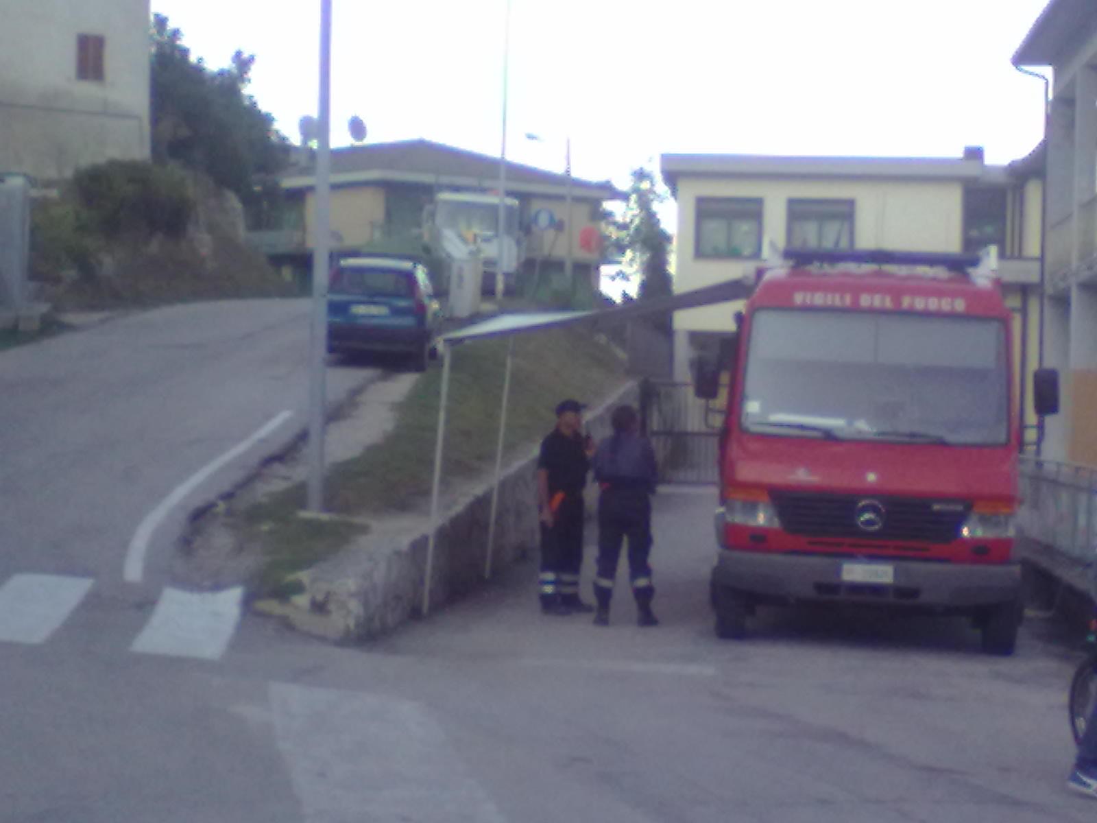 Piazzetta di Mozzano, Stazione mobile Vigili del Fuoco