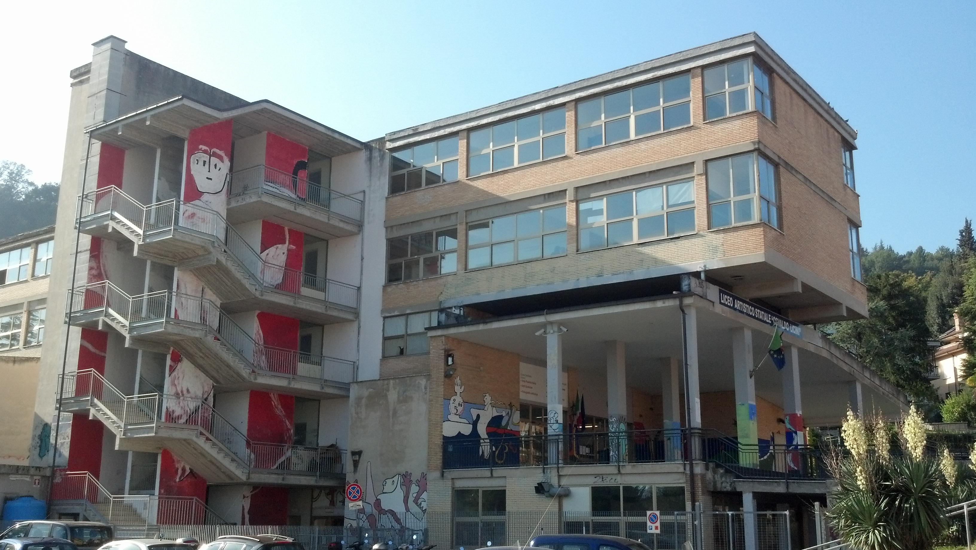 L'istituto d'arte Licini: qui il graffito è veramente artistico
