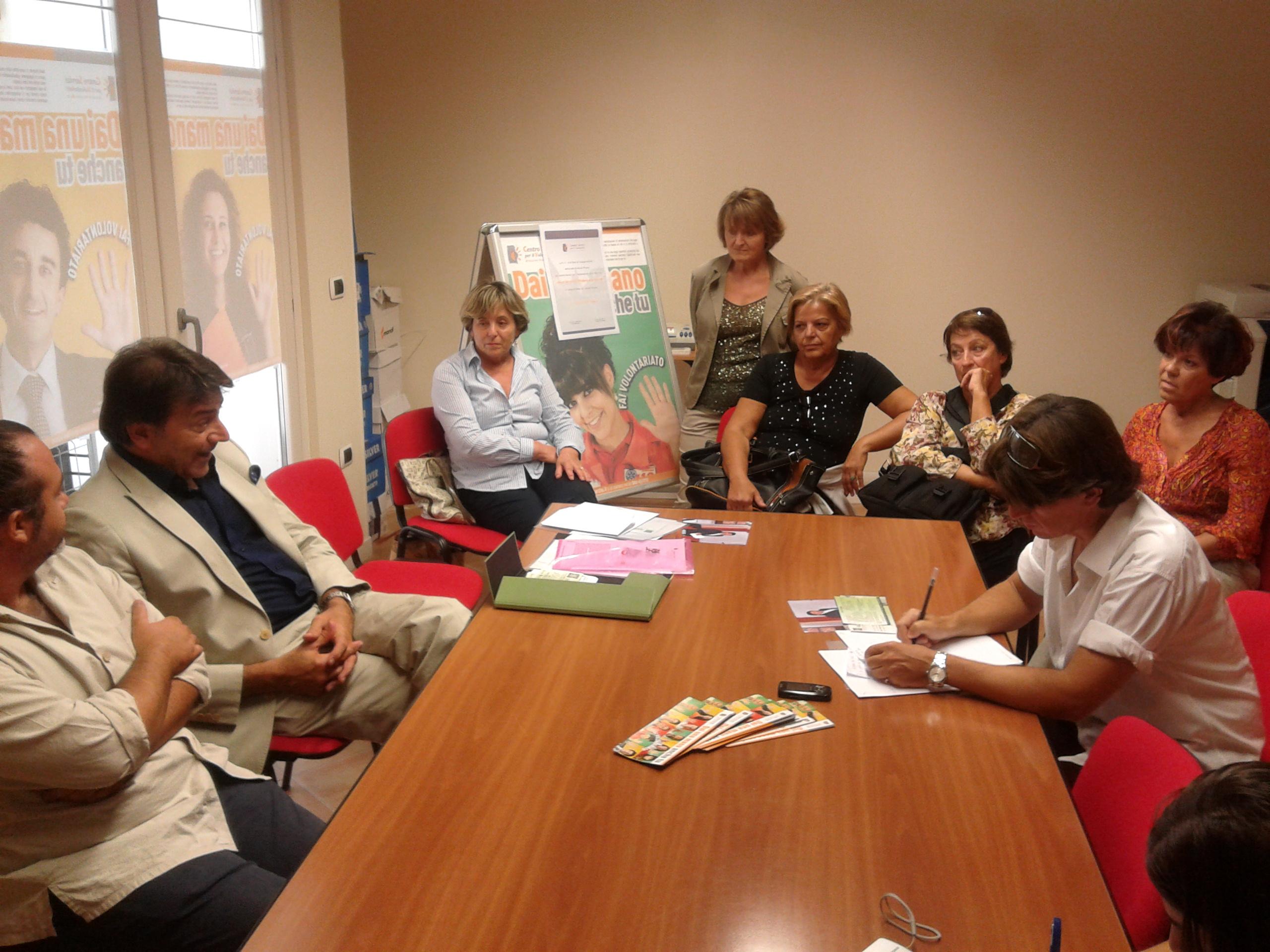 La conferenza con il dott. Pancotti e le volontarie