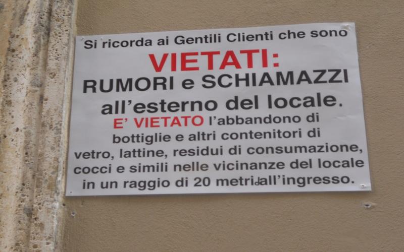 Caffè San Marco: cartello