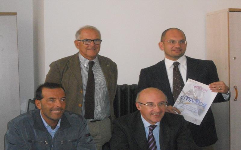 Da sinistra: Bucciarelli, Castelli, Di Micco, Squarcia presentano l'evento