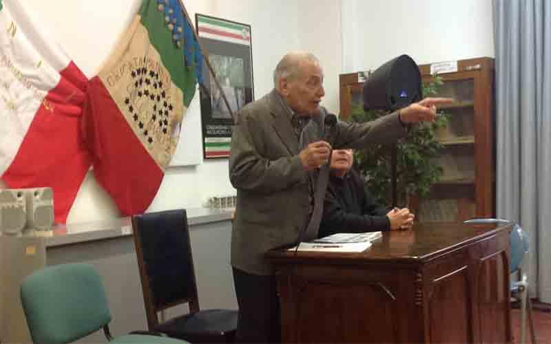 Giannino Oddi, presidente onorario dell'Anpi di Ascoli