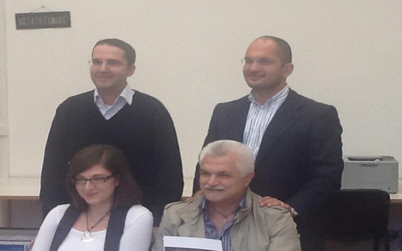 da sinistra: Brugni,Castelli,Boncori,Capponi in conferenza stampa