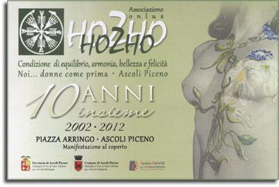 La locandina del decennale di 'Hozho'