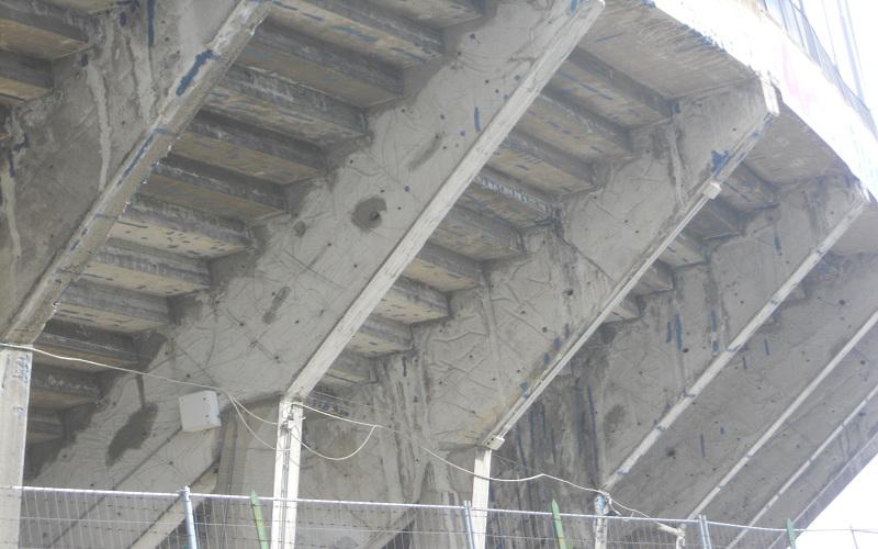 Stadio Del Duca, dettaglio curva fatiscente 2