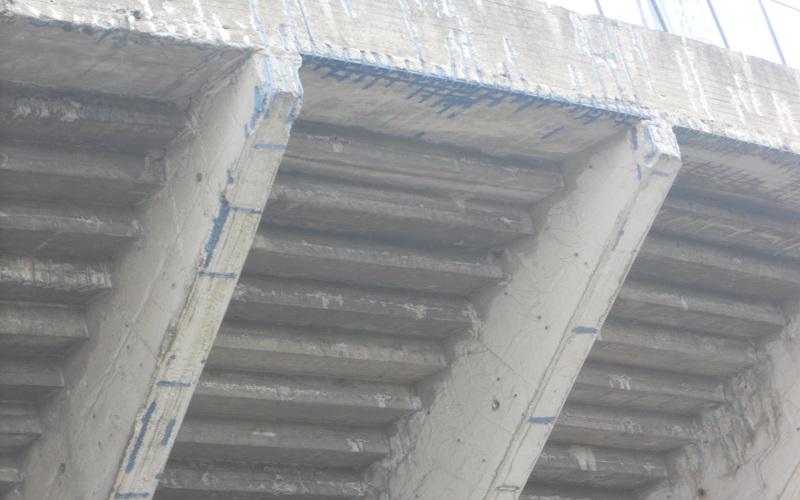 Stadio Del Duca, dettaglio curva fatiscente