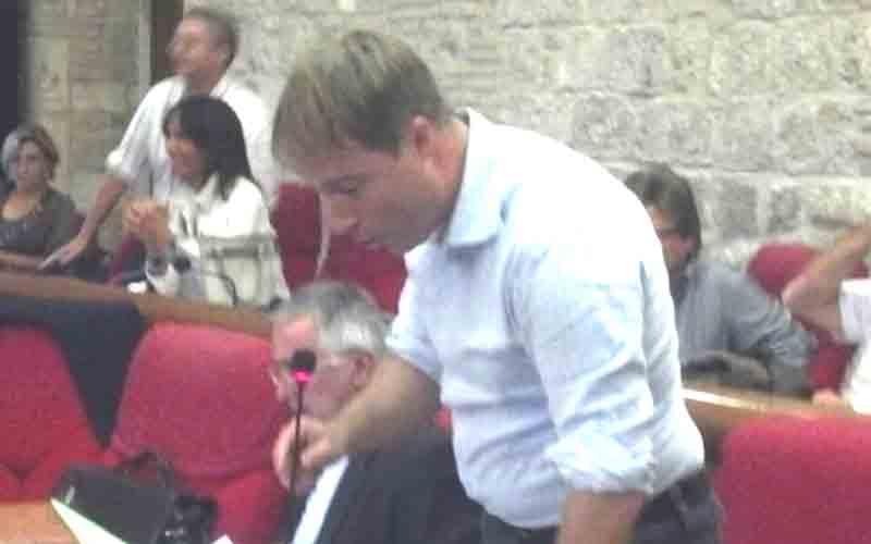 Stefano Corradetti in consiglio comunale