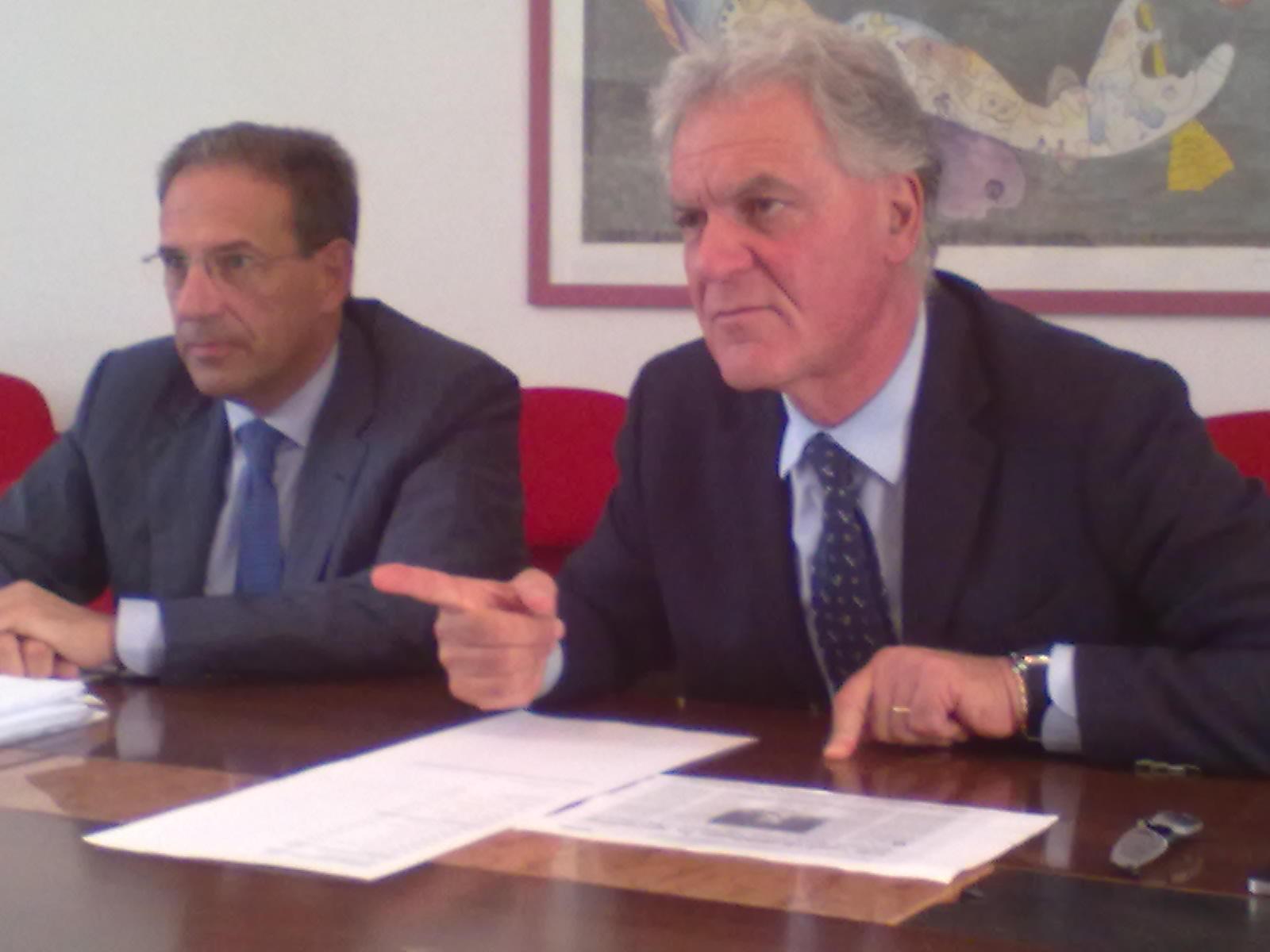 Vittorio Crescenzi assessore al Bilancio, e Piero Celani