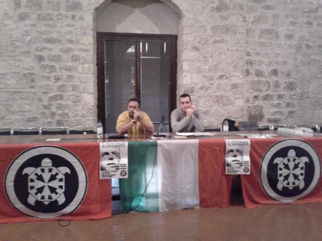 Da sinistra, Augusto Grandi e Giorgio Ferretti alla presentazione del libro