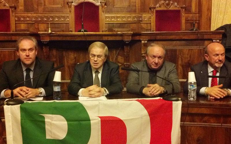Da sinistra Di Francesco, Castagnetti, Marcozzi, Ucchielli