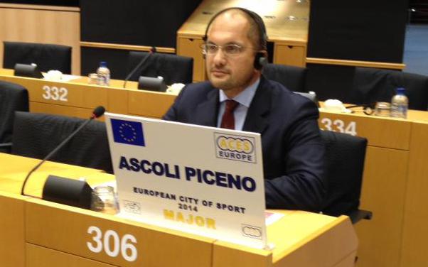 Guido Castelli a Bruxelles, Ascoli insignita del riconoscimento Città europea dello sport