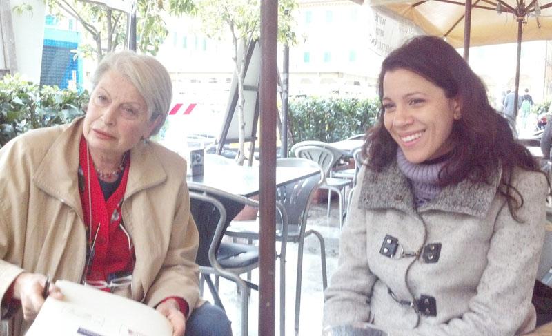 Ludovica Teodori e Roberta Cugnigni dello Iom di Ascoli
