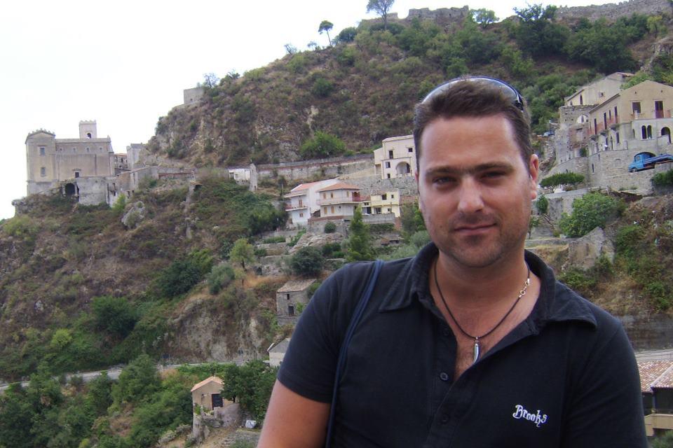 Patrick Willemsem durante una sua vacanza italiana